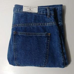 Zara wide leg culotte blue jeans women's size 6